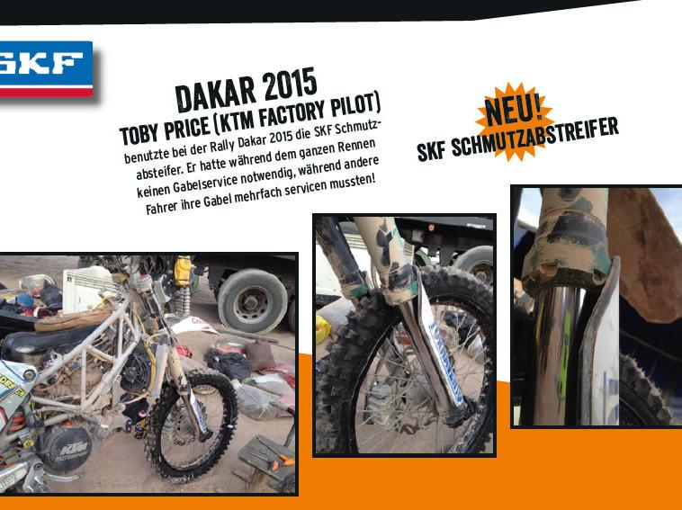 SKF Schmutzabstreifer Dakar 2015 Toby Price KTM Factory Pilot
